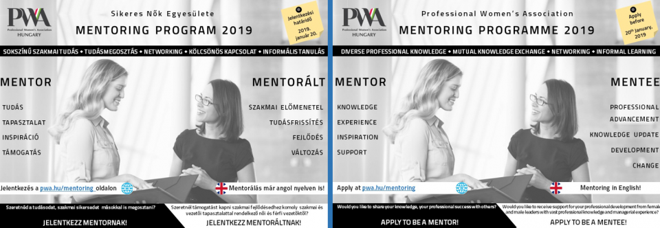 PWA Mentoring szórólap